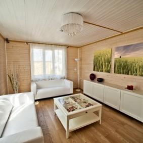 Небольшая гостиная с двумя диванами