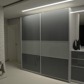 Шкаф-купе с дверцами из стекла для прихожей