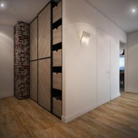 Интерьер прихожей комнаты в современном стиле