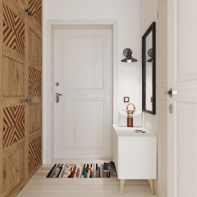 Деревянные фасады шкафа встроенного типа