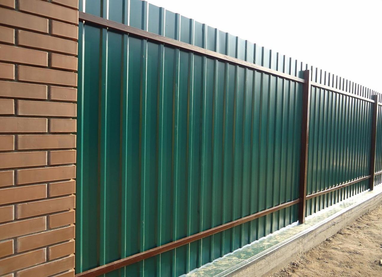 забор из профнастила горизонтальный фото окна, цена