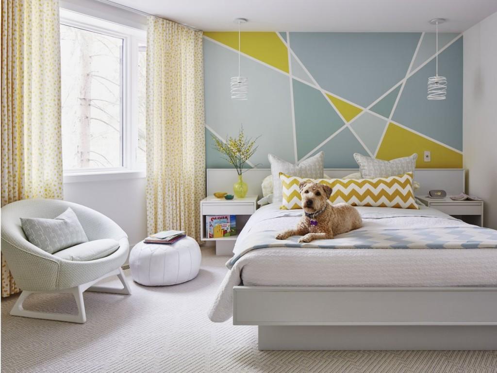 Декорирование светлой спальни в современном стиле