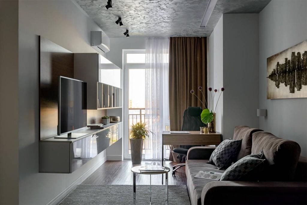 Расстановка мебели в гостиной прямоугольной формы