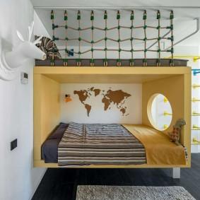 Спальное место в детской комнате