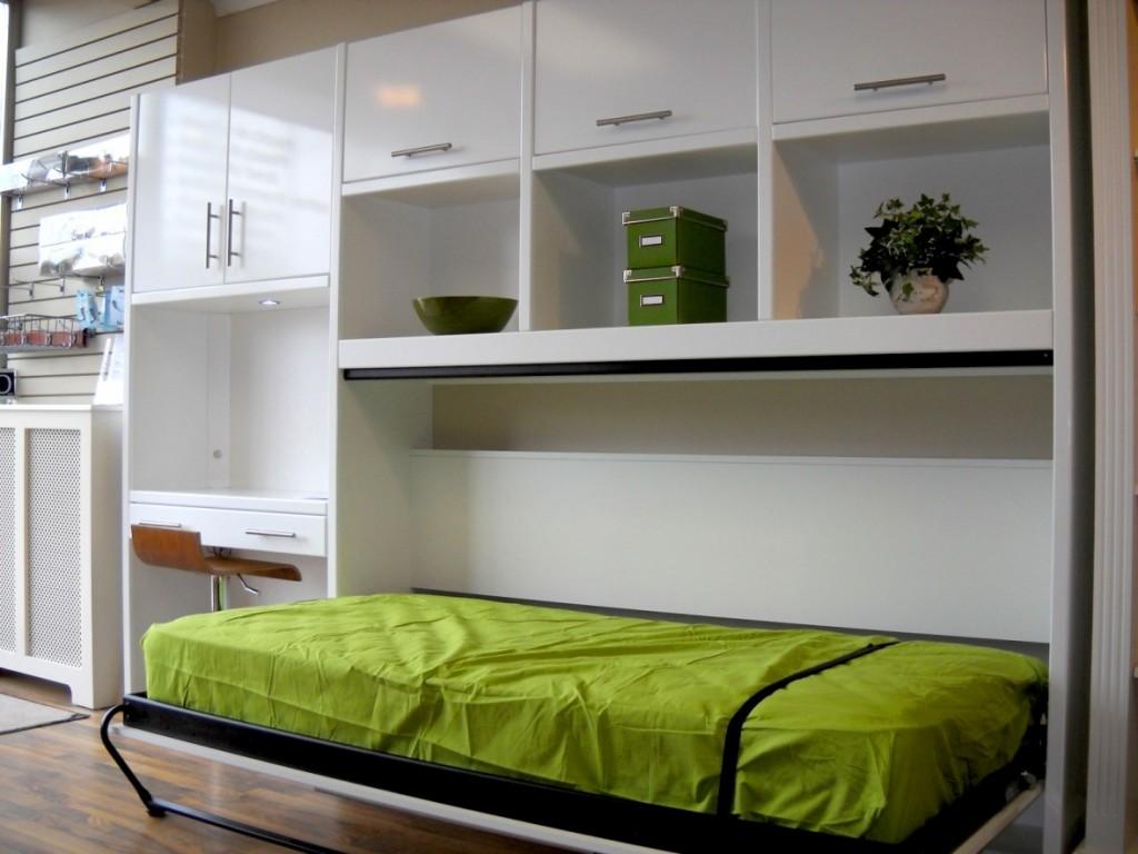 Откидная детская кровать встроенная в шкаф