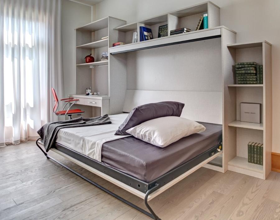 Кровать-трансформер в спальне подростка