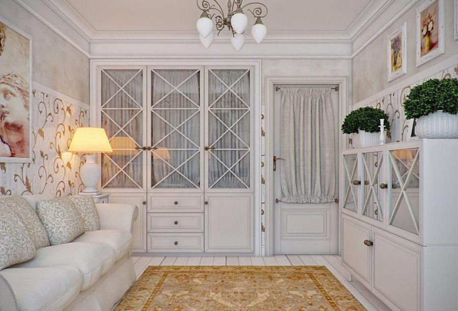 Меблировка маленькой гостиной стиля прованс