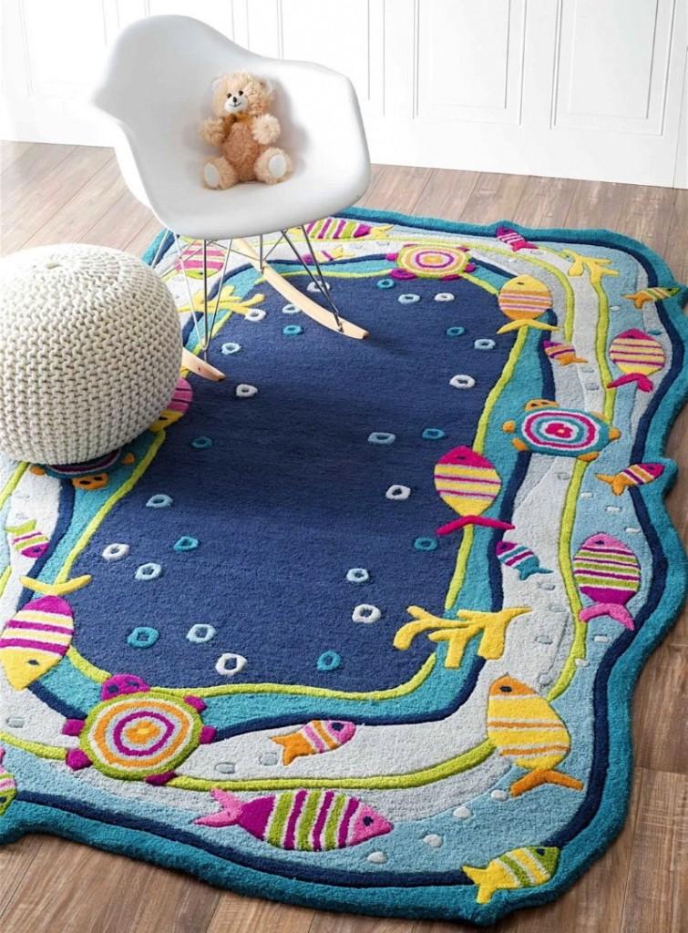 Коврик морской тематики в детской спальне