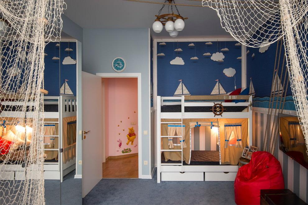Цветовая палитра интерьера комнаты для мальчиков