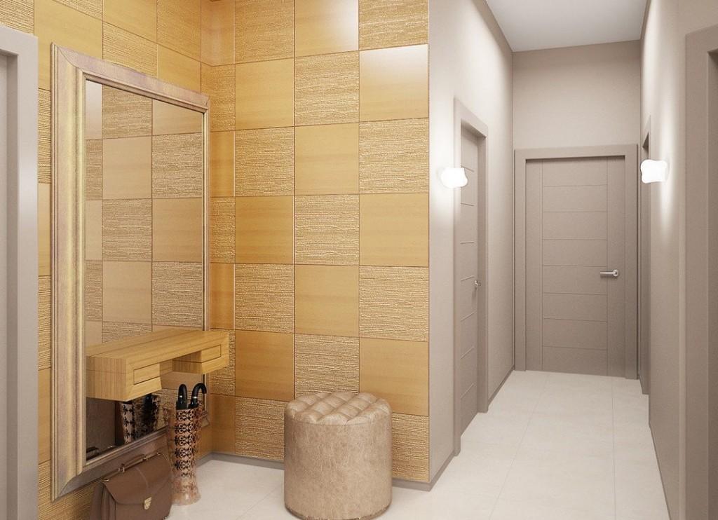 Отделка стен коридора качественными материалами