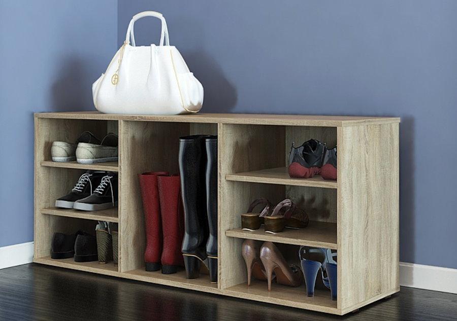 Недорогая обувница с местом для хранения сапог