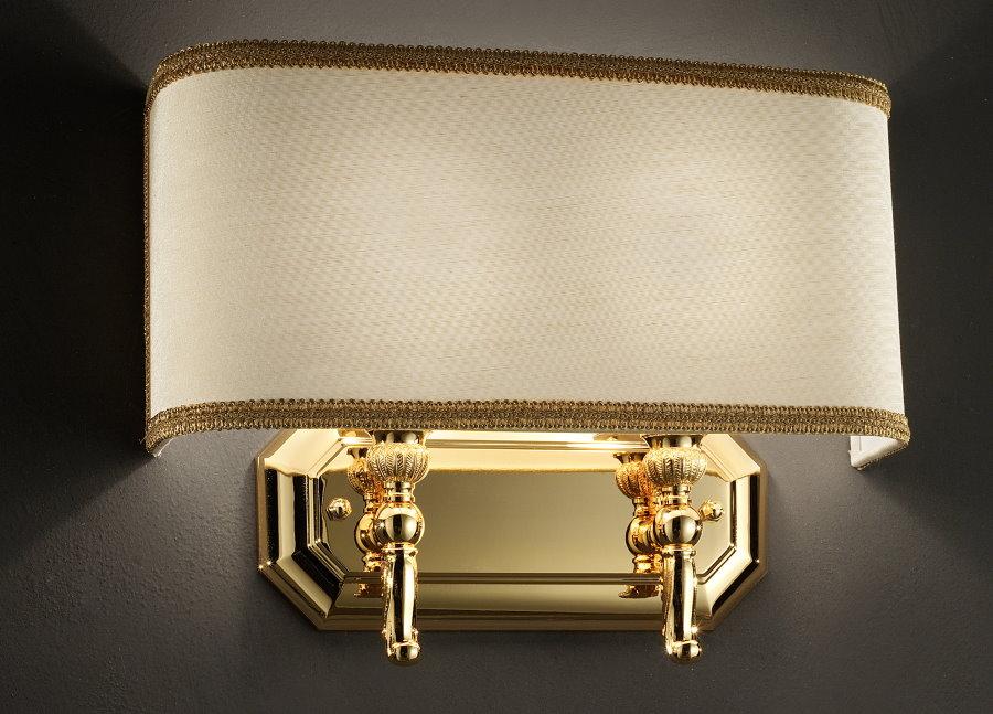 Настенный светильники с прижатым к стене плафоном