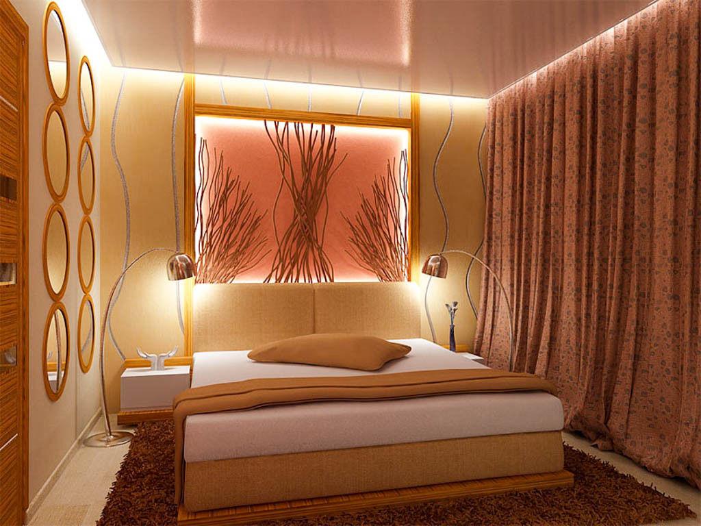 Организация комфортного освещения в узкой спальне