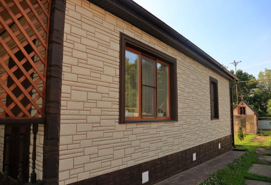 Декоративная отделка фасада панелями с утеплителем