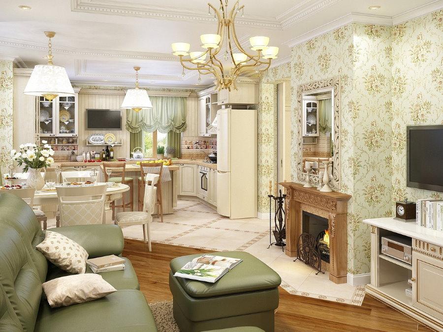 Дизайн квартиры-студии в стиле прованс