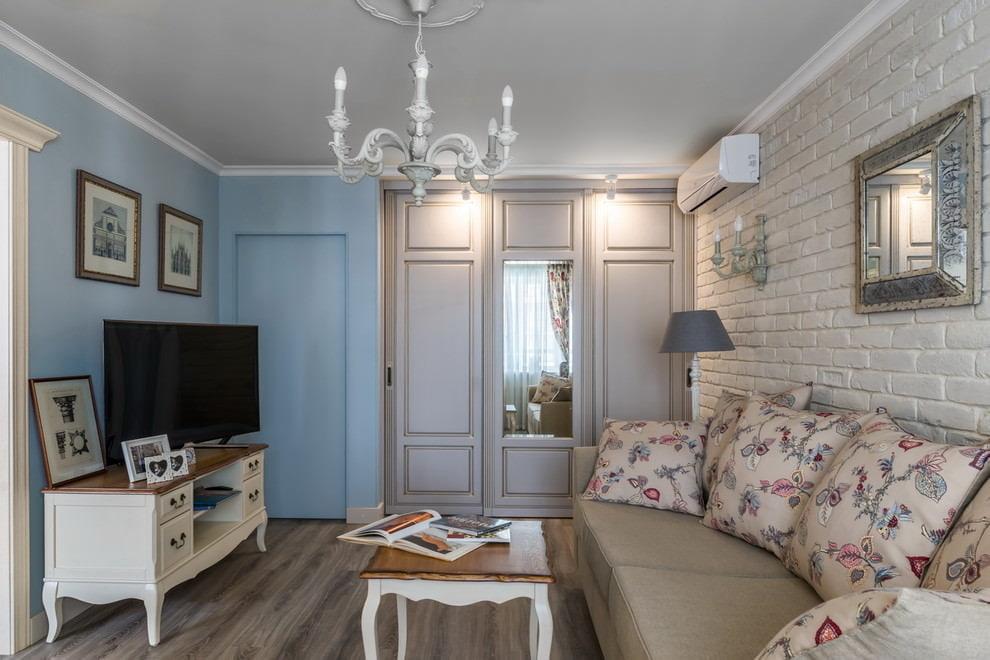 Оформление маленькой гостиной в стиле прованса