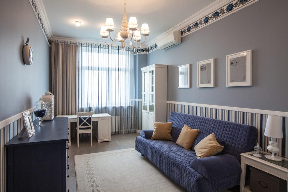 Интерьер детской комнаты в стиле прованса для мальчика