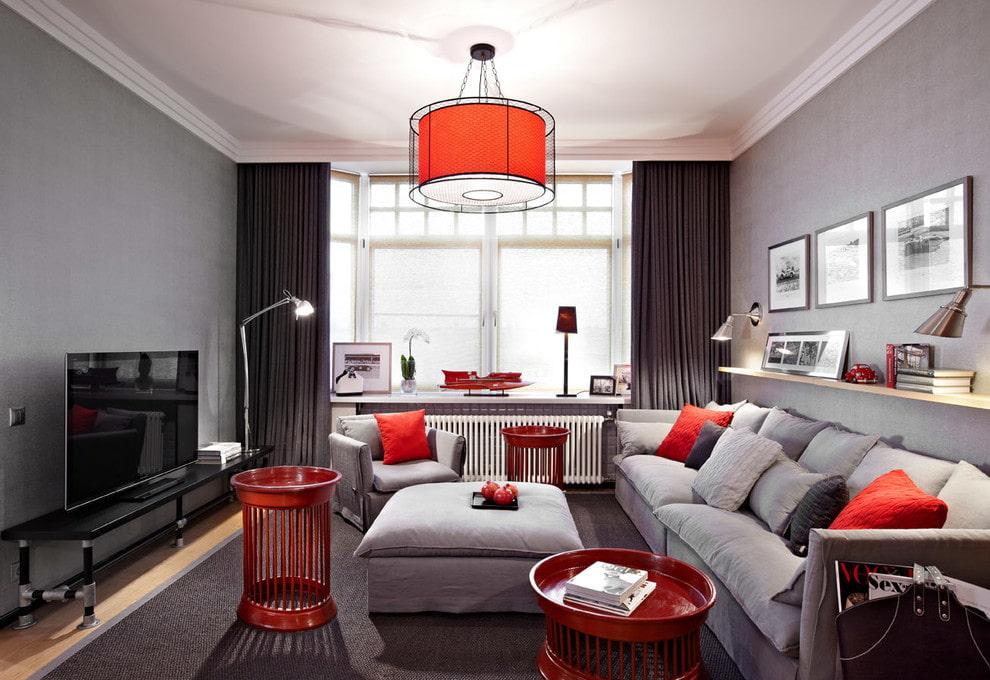 Красный плафон потолочного светильника