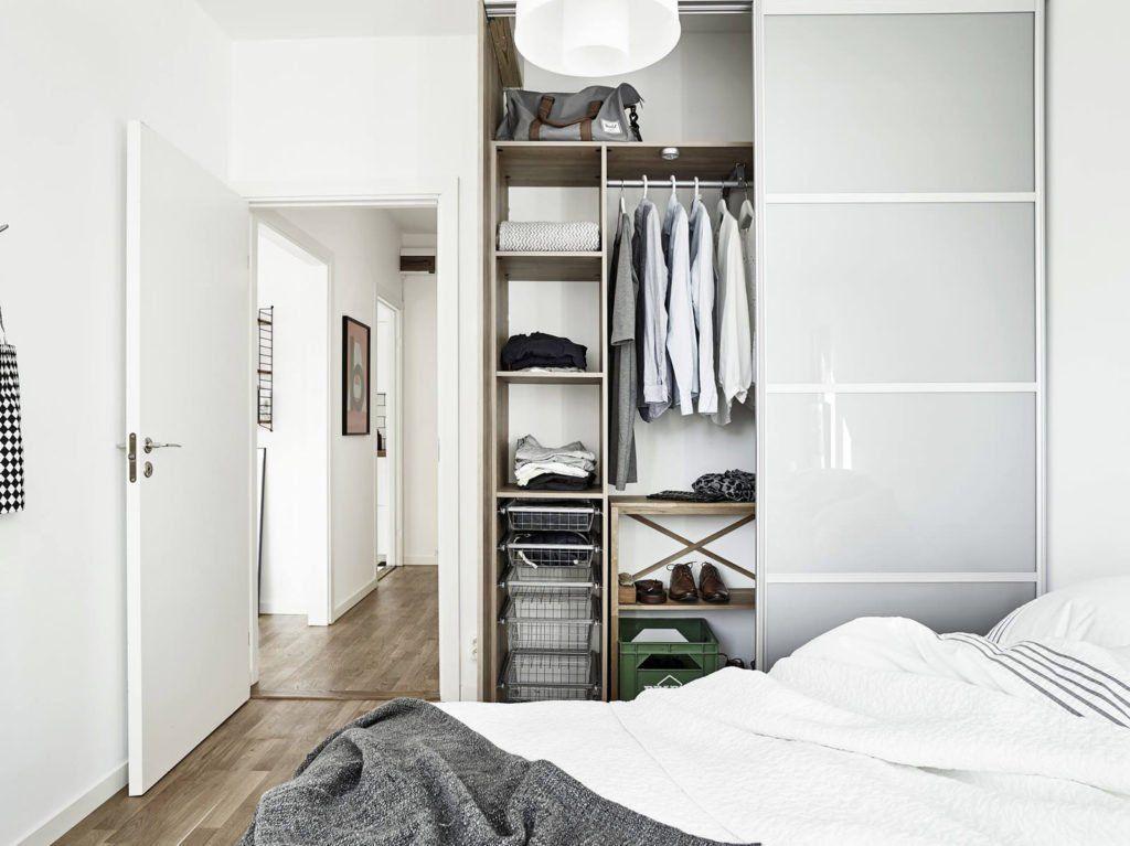 Встроенный шкаф-купе в спальне подростка