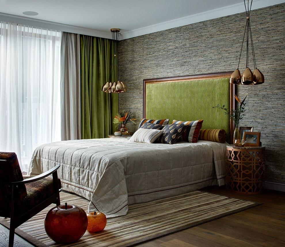 Подбор цвета штор под кровать в спальне