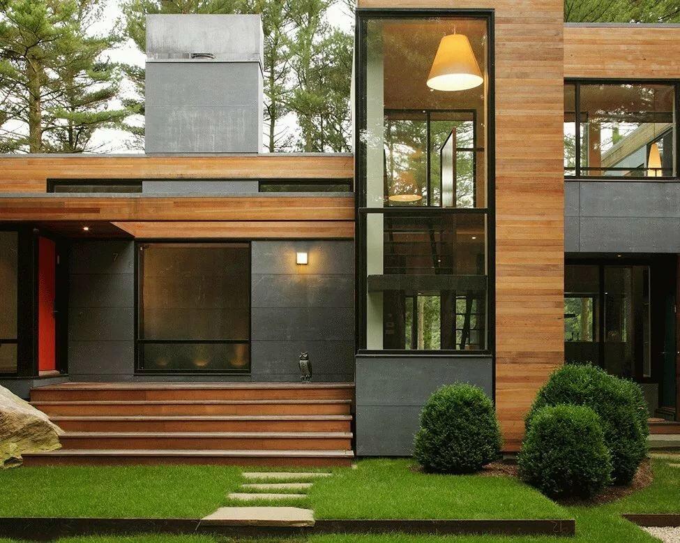 Фото отделки фасада дома панелями из разных материалов