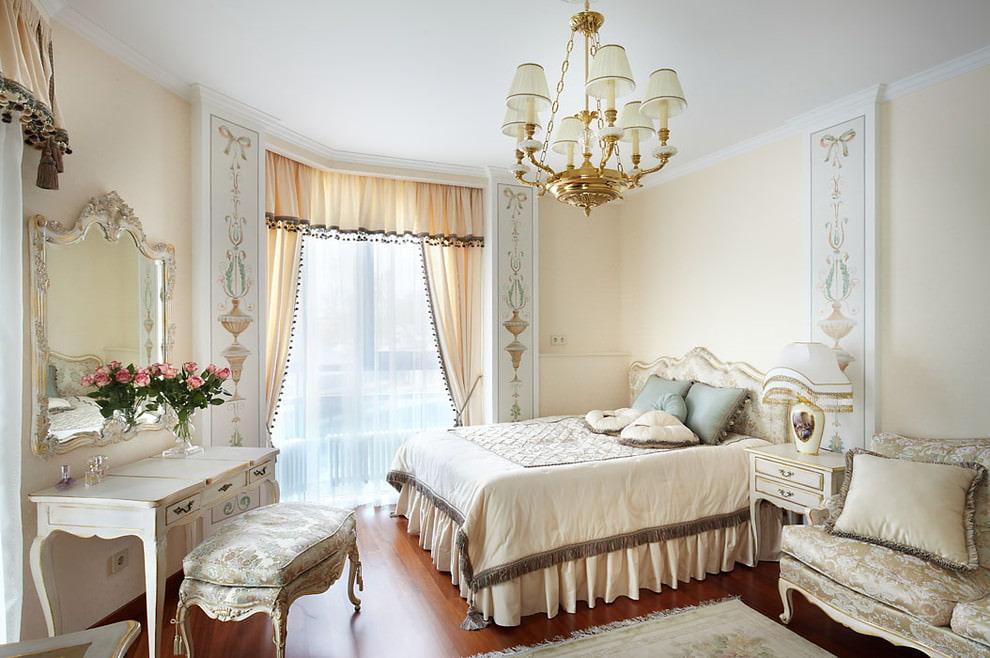 Расстановка мебели в спальне классического стиля