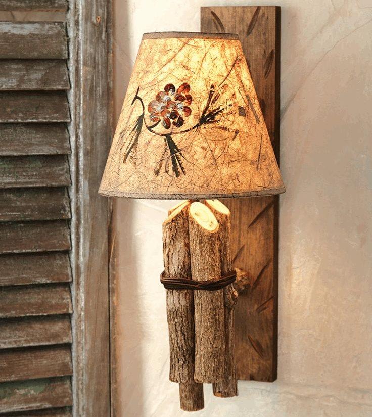 Фото настенного светильника в прихожую эко стиля