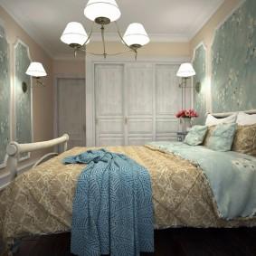 Дизайн небольшой спальни в деревенском стиле