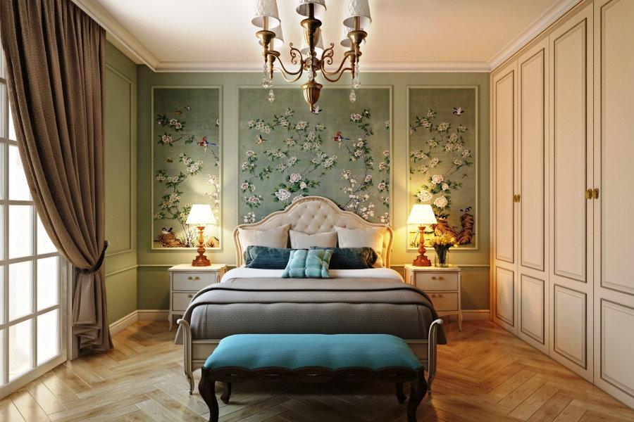 Декорирование интерьера спальни в стиле неоклассики