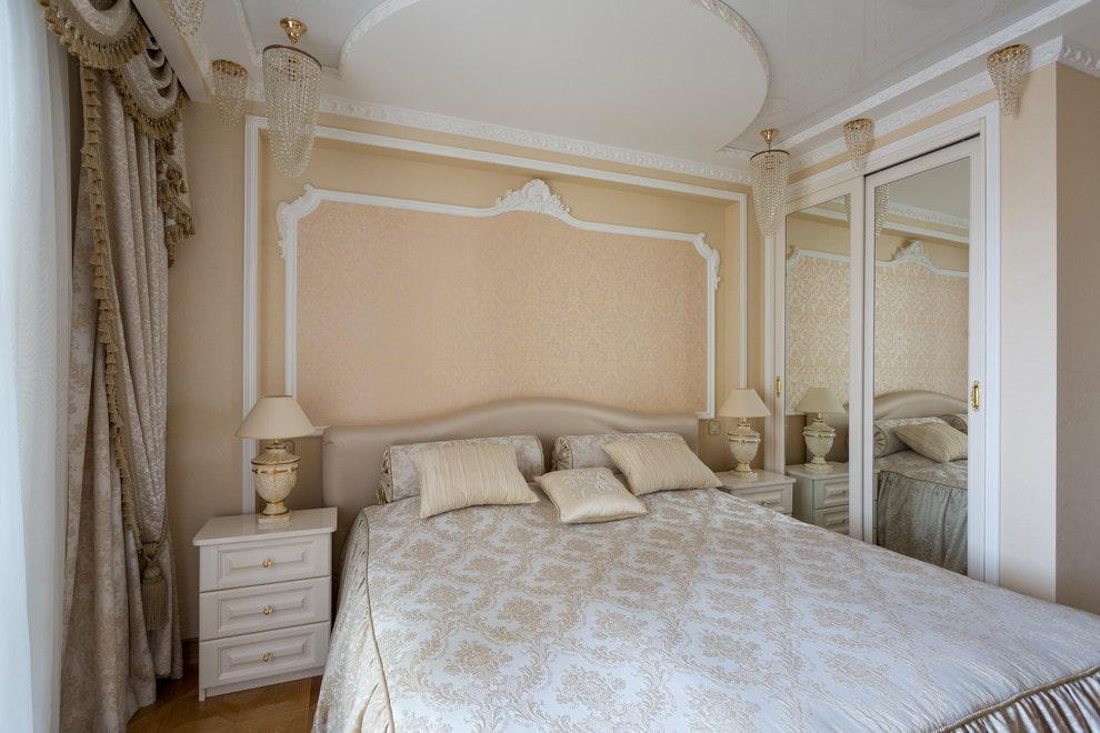 Меблировка маленькой спальни в стиле классика