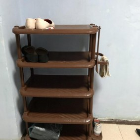 Пластиковая обувница-этажерка