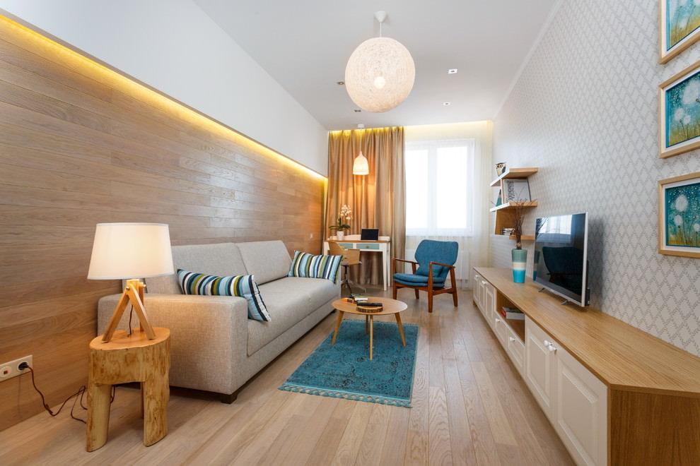 Выбор цвета стен для вытянутой комнаты
