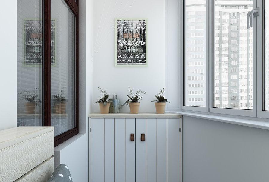 Обустройство балкона в скандинавском стиле