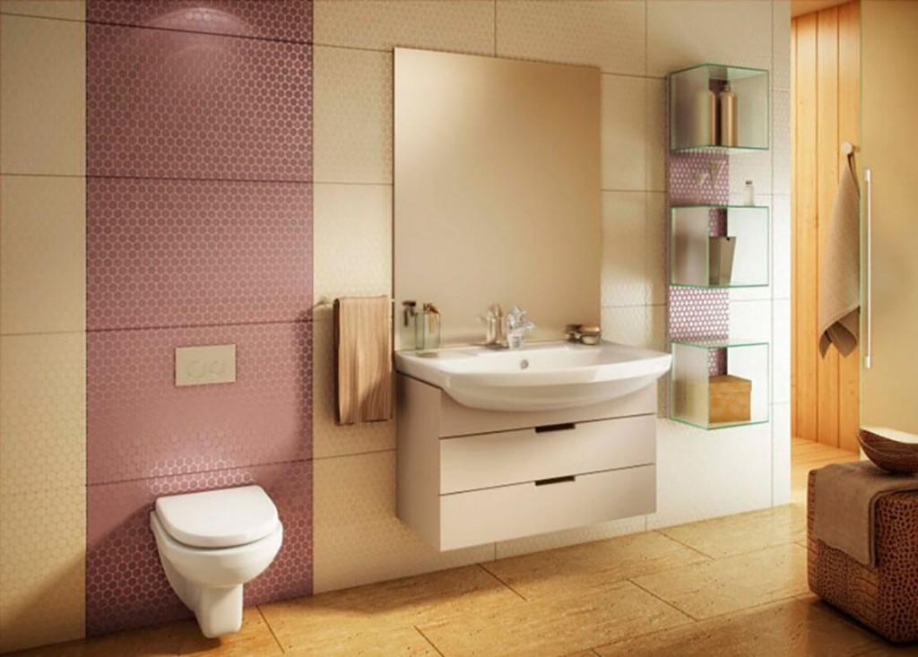 Унитаз с инсталляцией в просторной ванной комнате
