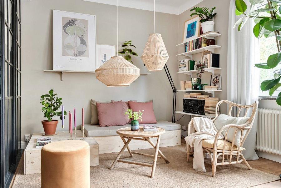 Подвесные светильники в интерьере квартиры