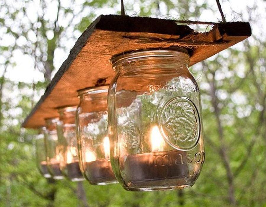 Садовые фонарики из ненужных банок