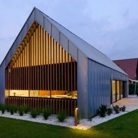 Дизайн загородного дома в промышленном стиле