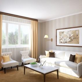 Дизайн гостиной комнаты в городской квартире