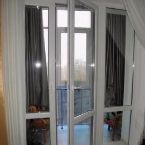 Французские окна вместо стандартного балконного блока