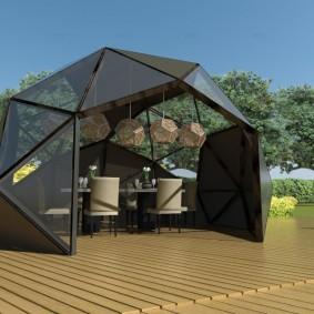 Беседка-купол на алюминиевом каркасе