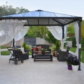 Оформление зоны отдыха в современном стиле