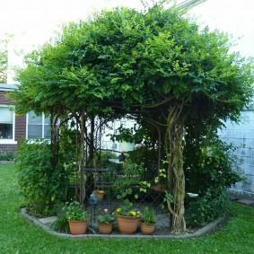 Садовая беседка в экологическом стиле