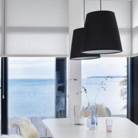 Черные плафоны подвесных светильников