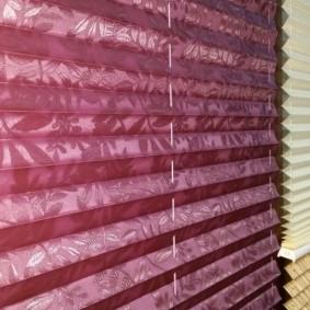 Фото бумажных штор из виниловых обоев