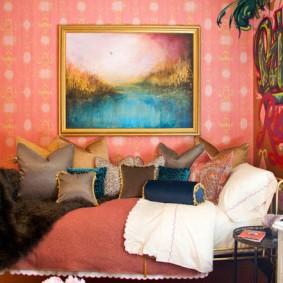 Декор комнаты в эклектичном стиле