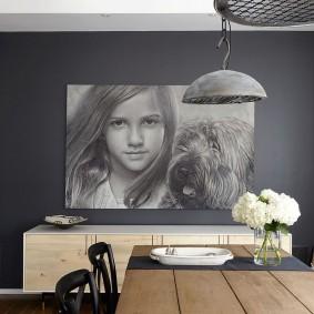 Современный декор в двухкомнатной квартире
