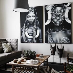 Фото стильного декора жилой комнаты