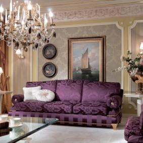 Декор гостиной в классическом стиле