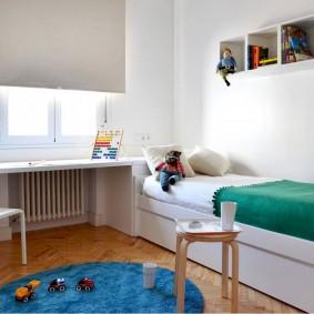 Светлая комната для ребенка дошкольного возраста