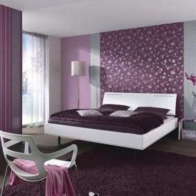 Дизайн комнаты в фиолетовых оттенках